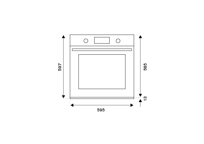 60cm Electric Pyro Built-in oven LCD display | Bertazzoni