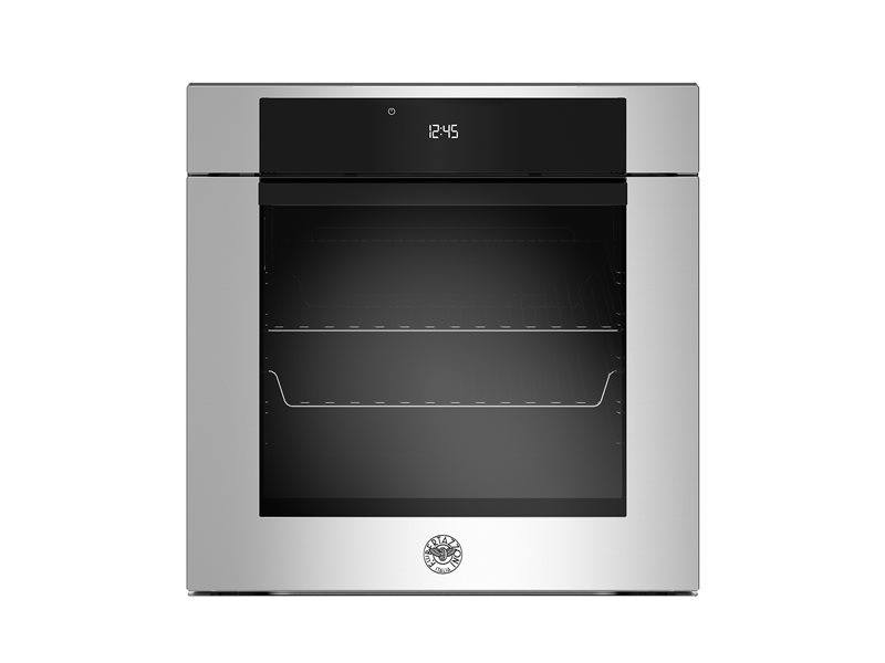 60cm Electric Pyro Built-in Oven LCD display, steam assist | Bertazzoni - Stainless Steel