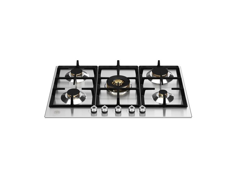 75 cm Gas hob with wok | Bertazzoni - Stainless Steel
