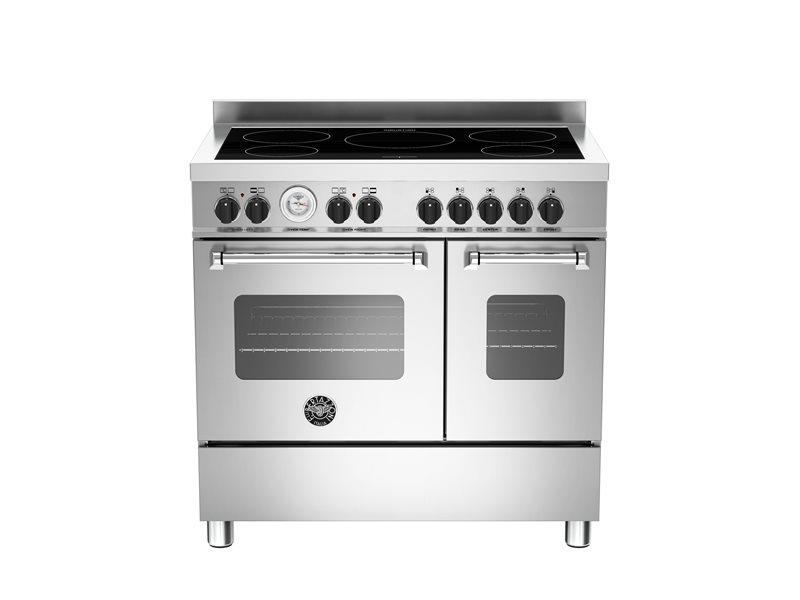 90 cm induction top electric double oven | Bertazzoni - Stainless Steel