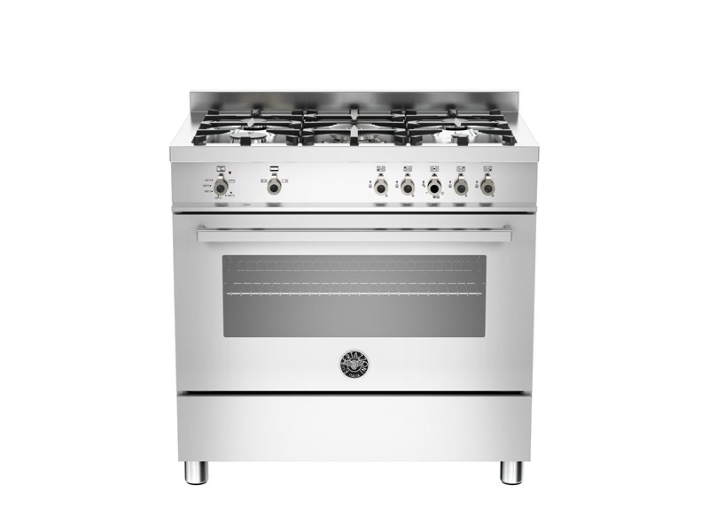 90 cm 5-burner gas oven | Bertazzoni - Stainless Steel
