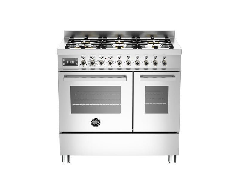 90 cm 6-burner electric double oven | Bertazzoni - Stainless Steel