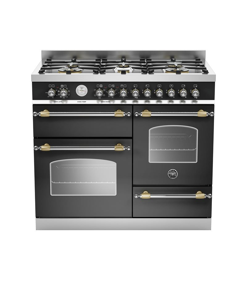 100 cm 6-burner electric triple oven | Bertazzoni - Matt Black