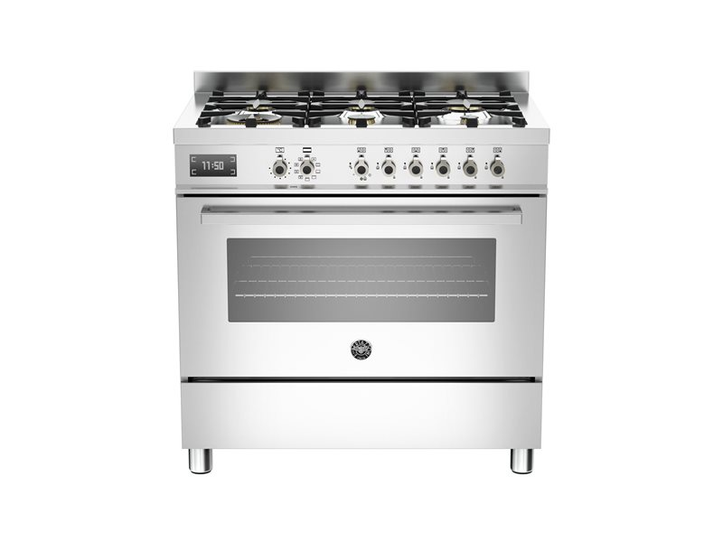 90 cm 6-Burner, Electric Oven | Bertazzoni - Stainless Steel